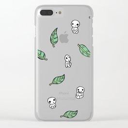 Kodama Pattern Clear iPhone Case