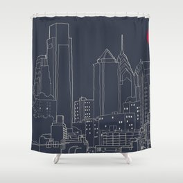 Philly Blueprint Shower Curtain