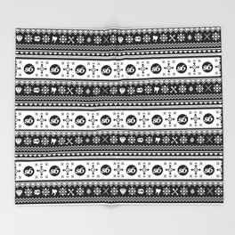 Ugly Sweater Society6 Throw Blanket