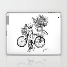 Bicycle Flower Seller in Hanoi in Pencil Laptop & iPad Skin