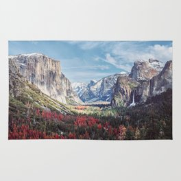 Tunnel View Yosemite Valley Rug