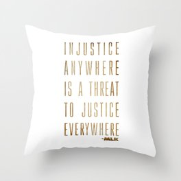 Martin Luther King Typography Quotes Throw Pillow