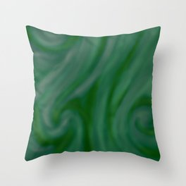 Green SWIRL Throw Pillow