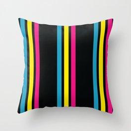 Stripes on Black Throw Pillow