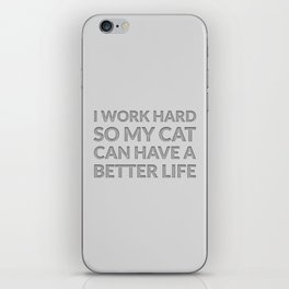 The Cat Lover I iPhone Skin