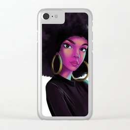 purple wave Clear iPhone Case