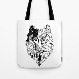 Prism Wolf Tote Bag