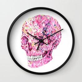 Crysrtal skull #2 - Pink Wall Clock
