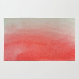 Ombre Watercolor red Rug