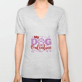 Dog Valentine Unisex V-Neck