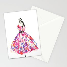 Floral Dress Stationery Cards
