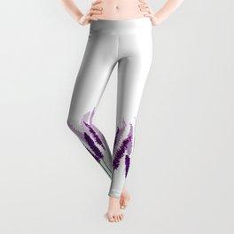 Lavender Field | Purple Flowers in Watercolor Leggings