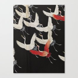 Furisode with a Myriad of Flying Cranes (Japan) Canvas Print