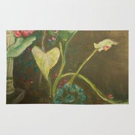 Lilly and Camelia pastel painting Rug