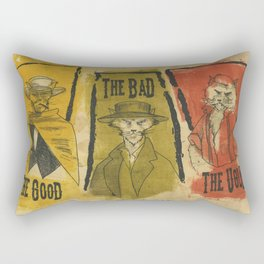 The Good The Bad The Ugly Cats Rectangular Pillow
