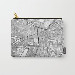 Santiago Map White Carry-All Pouch