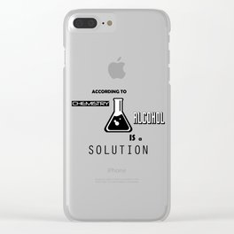 Can't Argue With Science Clear iPhone Case