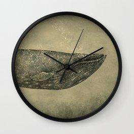 Damask Whale  Wall Clock