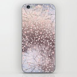 Shiny Spring Flowers - Pink Cherry Blossom Pattern iPhone Skin