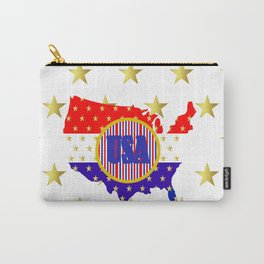 American Stars And Stripes Carry-All Pouch