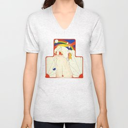 Deco Rainbow Unisex V-Neck
