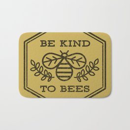 Be Kind To Bees Bath Mat