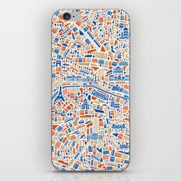 Paris City Map Poster iPhone Skin