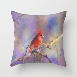 Lovely Cardinal Throw Pillow