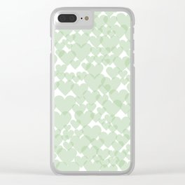 Green harts Clear iPhone Case