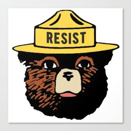 SMOKEY THE BEAR SAYS RESIST Canvas Print
