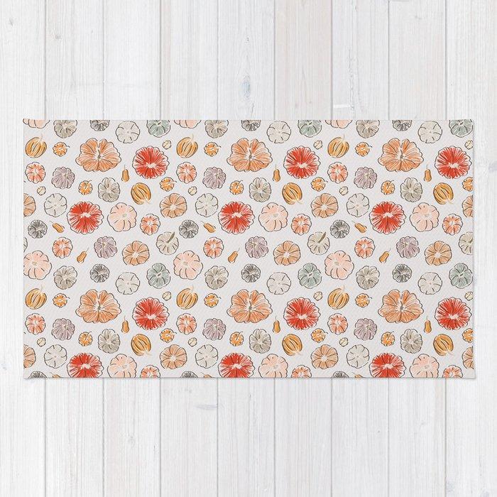 Pumpkin Polka Dots Rug