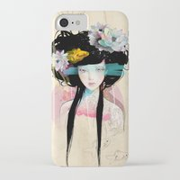 fish iPhone & iPod Cases featuring Nenufar Girl by Ariana Perez
