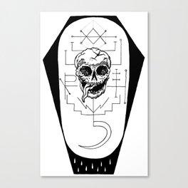 Saturnine Death Sigil Canvas Print
