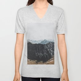 interstellar - landscape photography Unisex V-Neck