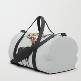 Spring Itself Deer Floral Duffle Bag
