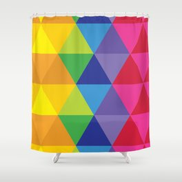 Rainbow Cosmic Universe Shower Curtain