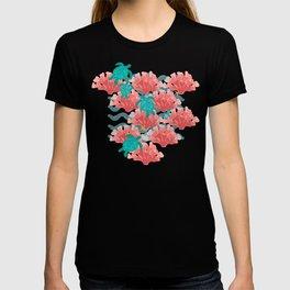 Sea Turtles in The Coral - Ocean Beach Marine T-shirt