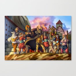 Menacing defense Canvas Print