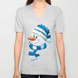 Blue Snowman 01 Unisex V-Neck