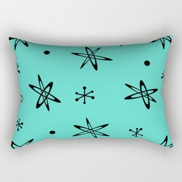 Atomic Era Space Age Turquoise Rectangular Pillow
