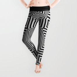 Flickering geometric optical illusion Leggings