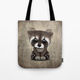 Cute Baby Raccoon Tote Bag