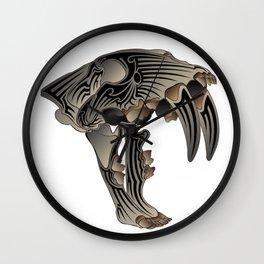Ancient Warrior (Sabertooth Skull) Wall Clock