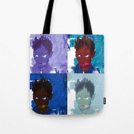 4 faces Tote Bag