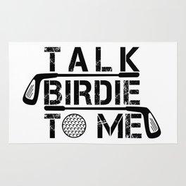 Talk Birdie To Me - Funny Golf Golfer Golfing Rug