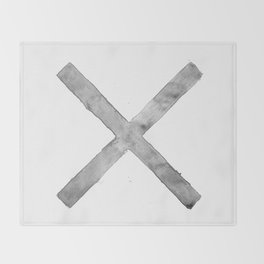 BLACK AND WHITE CROSS Throw Blanket
