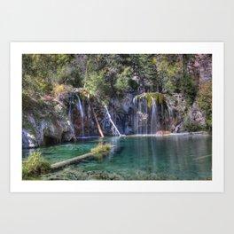 Hanging Lake Art Print