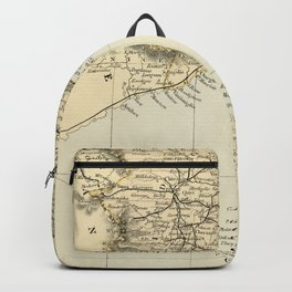 Vintage Retro Map Northern Italy Backpack