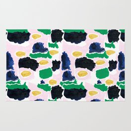 Imogen - painterly abstract palette colorful modern minimal painting boho dorm college hipster trend Rug