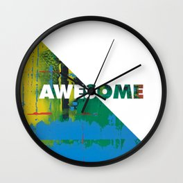 Color Chrome - Awesome graphic Wall Clock